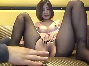 Untrained Gonzo Hui Rika professional Netra is busty young wife each try one's luck